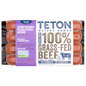 Teton Waters Grass Fed Beef Polish Kielbasa Sausage