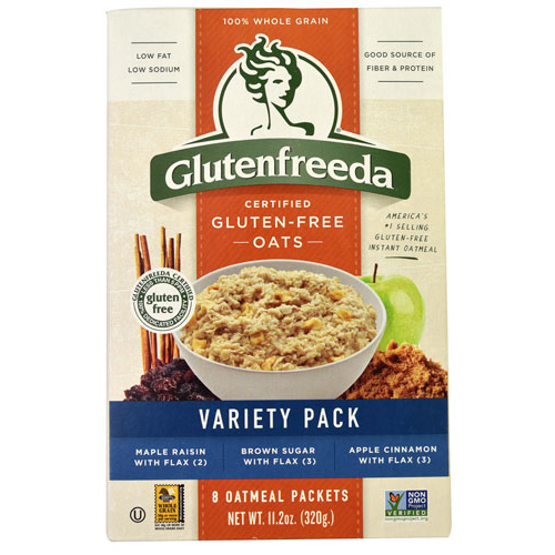 Glutenfreeda Oatmeal - Instant Variety Pack