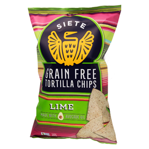 Siete Grain Free Tortilla Chips - Lime