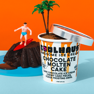 Coolhaus Ice Cream - Chocolate Molten Cake