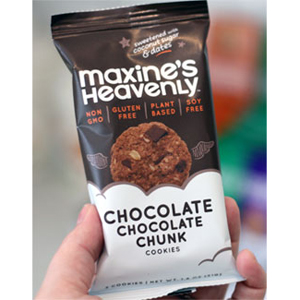 Maxines Heavenly GF Cookies Snack Pack - Choc Chunk