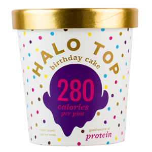 Halo Top Light Ice Cream - Birthday Cake