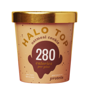 Halo Top Light Ice Cream - Oatmeal Cookie