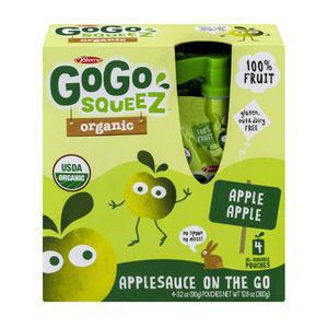 GoGo Squeez Organic Applesauce - Apple