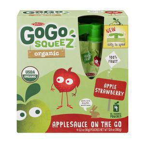GoGo Squeez Organic Applesauce - Apple Strawberry