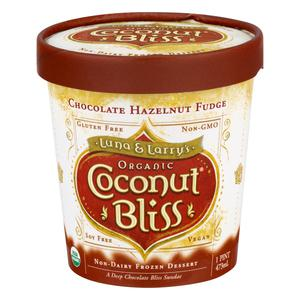 Coconut Bliss Ice Cream Choc Hazlnt Fudge