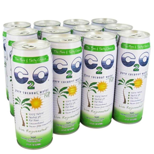 C2O Coconut Water with Pulp 17.5 oz can