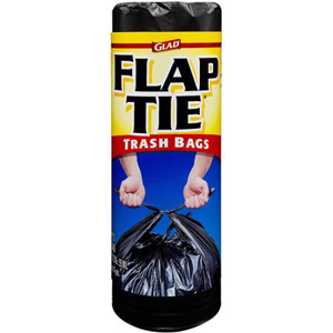 Glad Trash - 30 Gallon Flap Tie