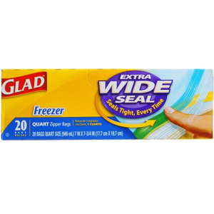 Glad Freezer Bags - Quart Size