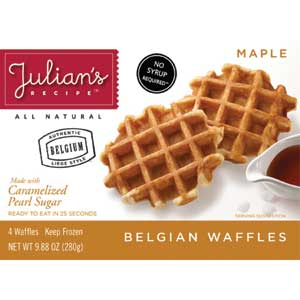 Julians Belgian Waffles Maple