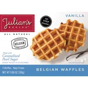 Julians Belgian Waffles Vanilla