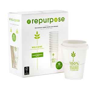 Repurpose Coffee Cups & Lids - Compostable