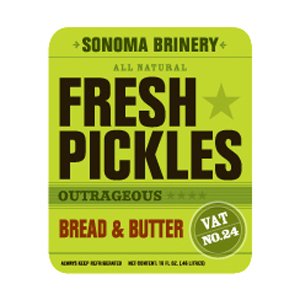 Sonoma Brinery Sliced Pickles - Bread & Butter